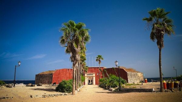 Slaverifestning på Goree-øya i Senegal.