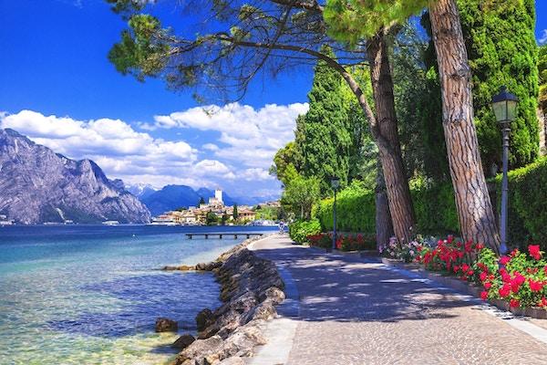 Scene fra Nord-Italia. Malcesine på Lago di Garda