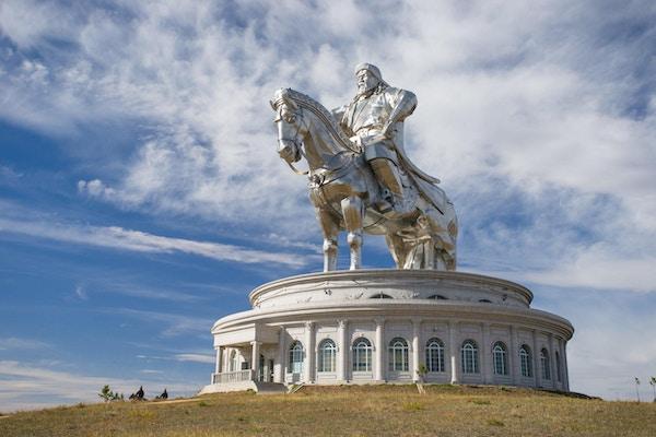 Verdens største hestestatue. Lederen for Mongolia, Genghis Khan.