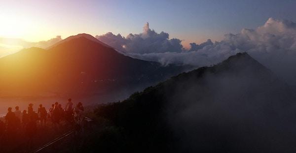 Soloppgang på Mount Batur, Bali