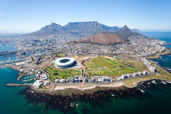 generell luftfoto av Cape Town, Sør-Afrika