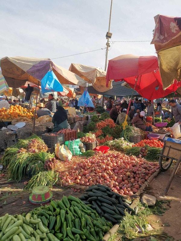 Grønnsaksmarked. Foto.