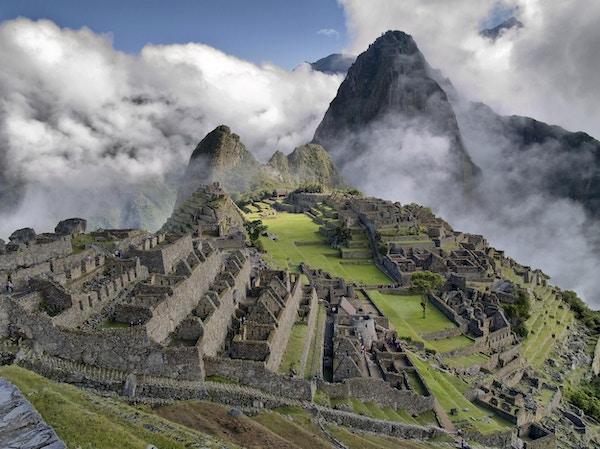 Panoramautsikt over Machu Picchu