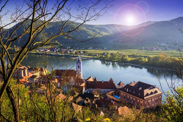 Durnstein, Wachau-dalen, Østerrike.