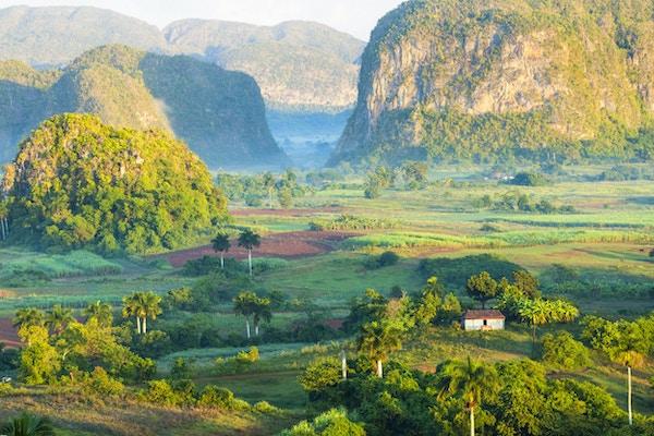 Cubansk landskap på sitte peneste