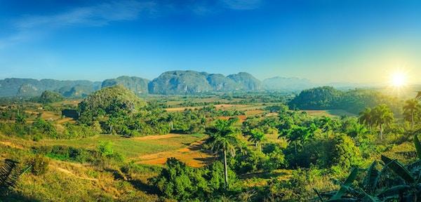 Vinales Valley nasjonalpark i Pinar del Rio-provinsen, Cuba. UNESCOs verdensarvliste.