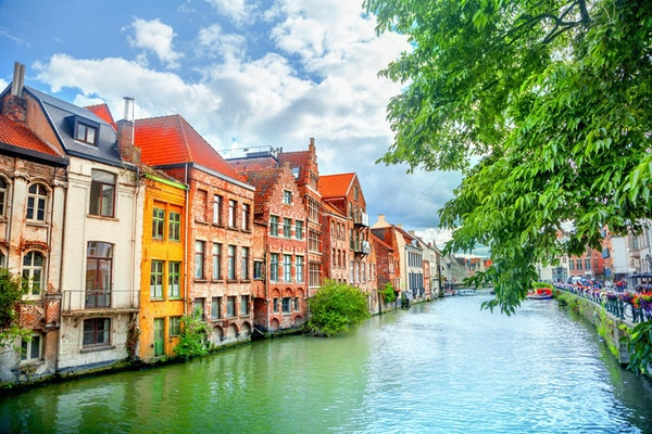 Kanal i Gent, Belgia.