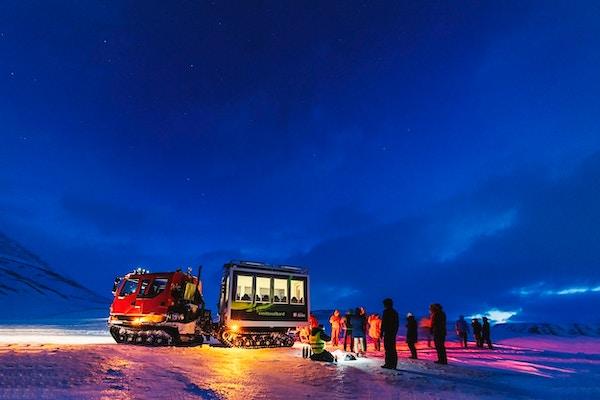 Vakker stjernehimmel over Svalbard