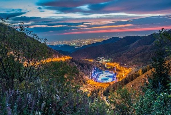Medeo (eller Medeu) er en utendørs hurtigløp og bandy-rink som ligger i en fjelldal i den sør-østlige utkanten av Almaty, Kasakhstan.