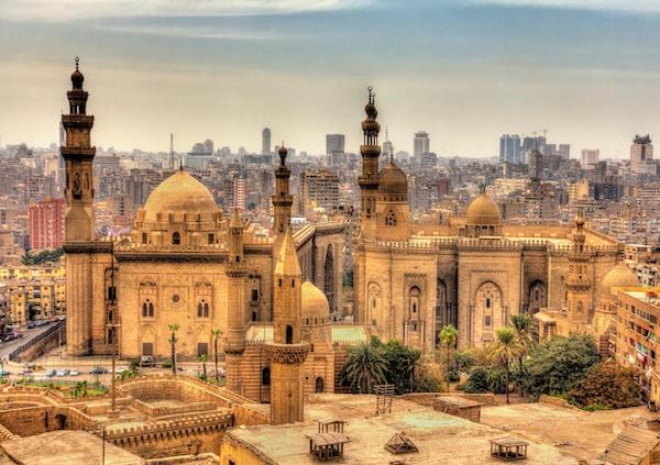 Utsikt over moskeene til Sultan Hassan og Al-Rifai i Kairo - Egypt