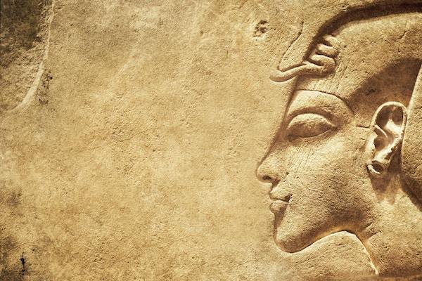 Forhistorisk egyptisk steintekstur kombinert av ulike motiver