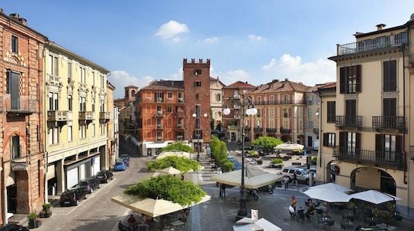 Piazza i Asti, Italia.