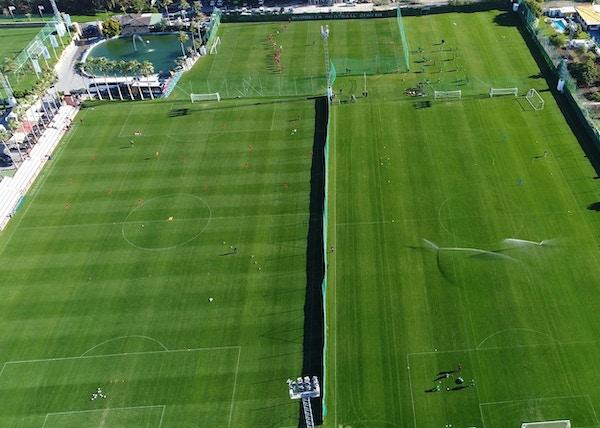Marbella football center aerial view