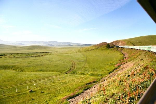 Transsibirsk jernbane fra beijing Kina til ulaanbaatar Mongolia