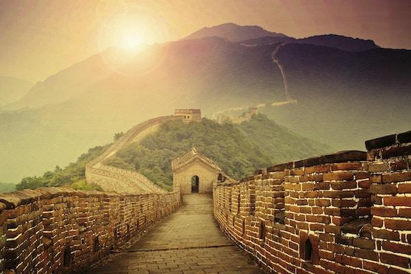 Mutianyu-delen av Den kinesiske mur.