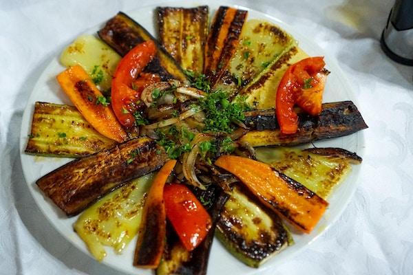 Middagen vår i Berat, Albania