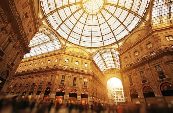 Galleria Vittorio Emanuele II i Milano.