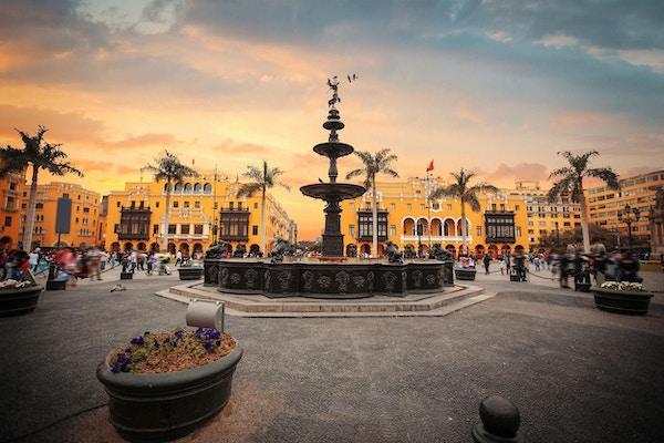 Det gamle sentrum i Lima