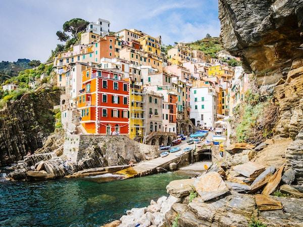 Riomaggiore utsyn - Cinque Terre, Italia