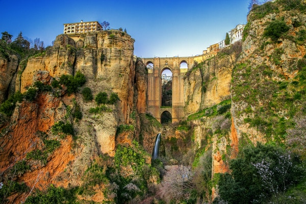 Landsbyen Ronda i Andalusia, Spania.