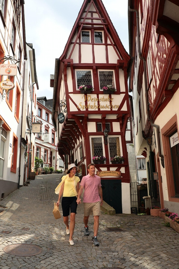 På besøk i Bernkastel, Tyskland
