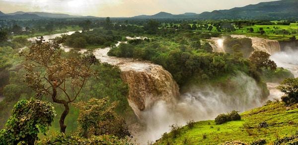 The Blue Nile Falls er et av Afikas flotteste fossefall