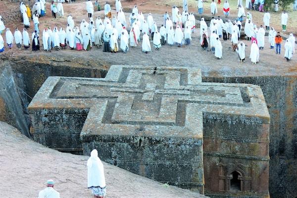 Klippekirkene i Lalibela regnes som et mirakel hugget ut i stein