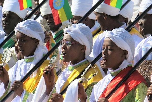 Fra Timkatfestivalen i Addis Ababa