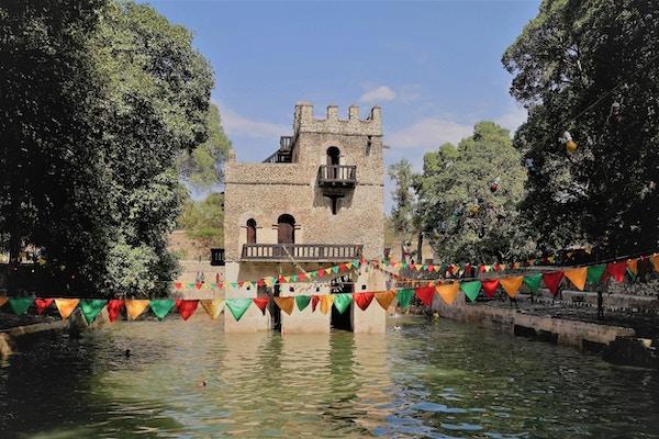 Keiser Fasilidas slott og basseng i Gonder