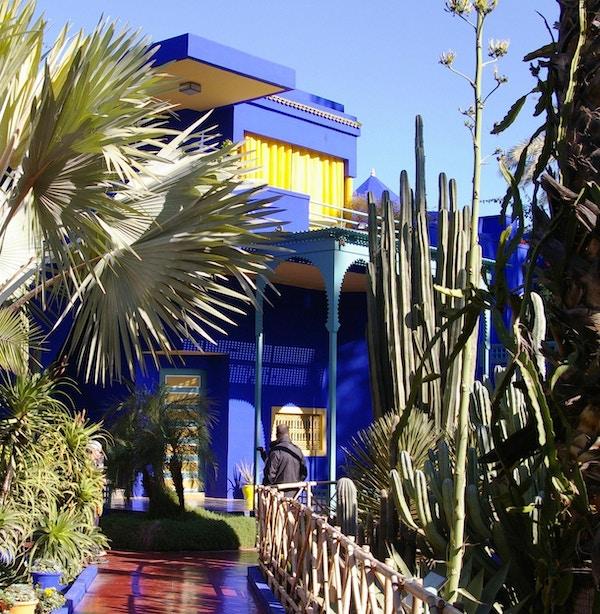 Den vakre hagen til Yves Saint Lauren i Marrakech.