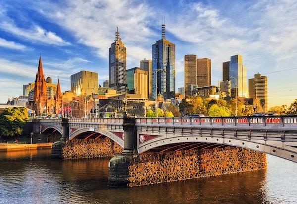 Melbourne er en moderne og vakker by.