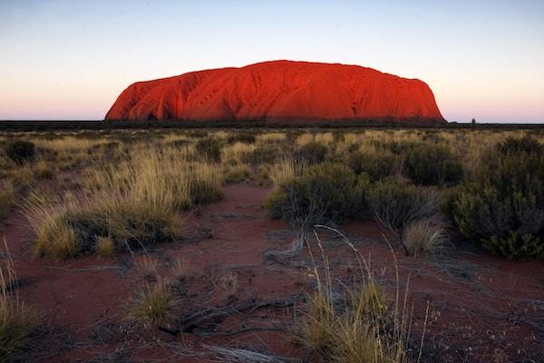 Den mektige monolitten ved Uluru.
