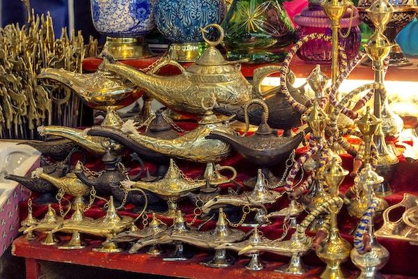 Gammel oljelampe. Aladdins lampe.