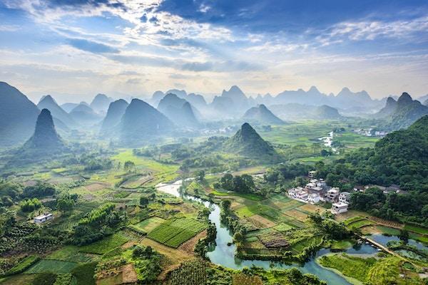 Den vakre Li-elven i Guilin.