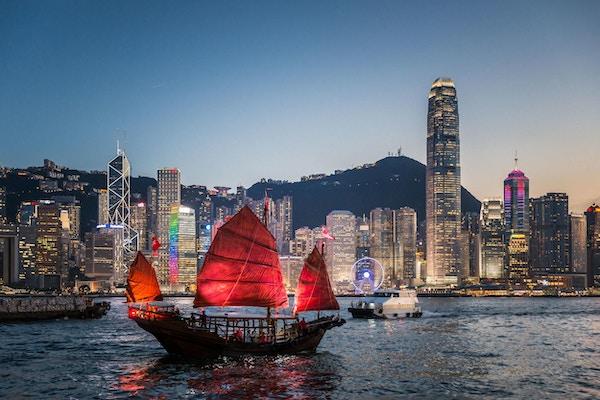 Hongkong skyline.
