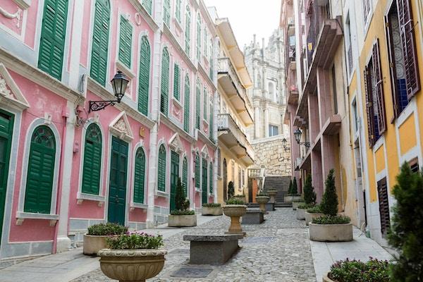 Macao gamleby er vakker og pittoresk.