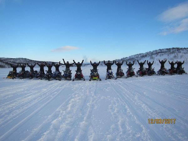 Scootersafari på Finnmarksvidda.
