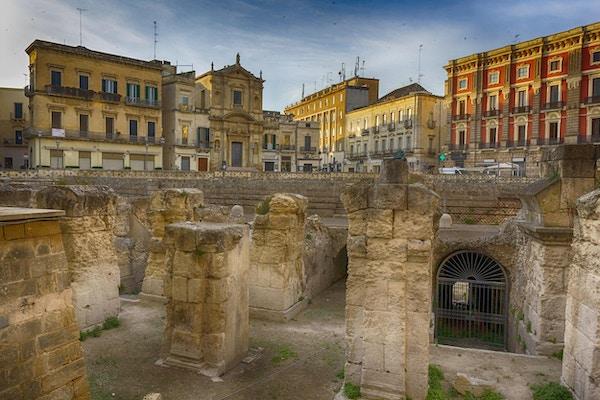 Lecce historiske sentrum: Amfiteater og Sant'Oronzo-plassen