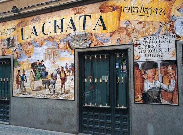 Veggmaleri i Madrid.
