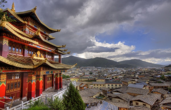 Byen Shangri La i Yunnan-provinsen, Kina