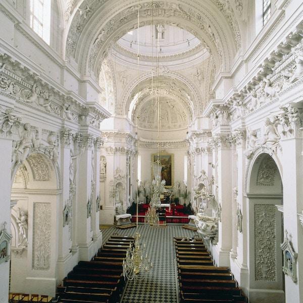 Inne i katedralen i Vilnius, Lituaen.