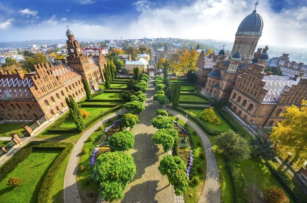 Universitetet i Chernivtsi, Ukraina.