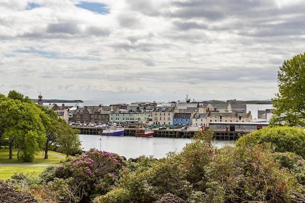 Havnen i Stornoway, Isle of Lewis. Skottland.