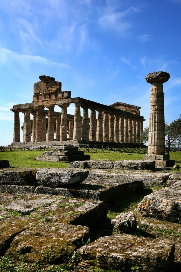 Gamle templer i Paestum.