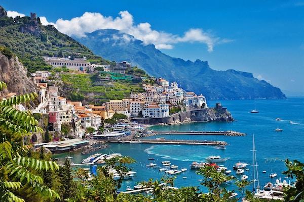 Utsikt over vakre Amalfi.