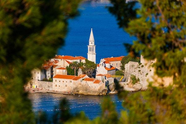 Gamlebyen i Budva, Montenegro.