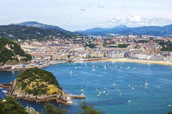 Utsikt til San Sebastian fra Igueldo.
