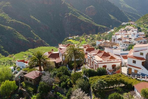 Tejeda, idyllisk landsby i fjellene på Gran Canaria, Kanariøyene, Spania