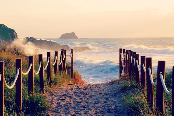 Sti ved Costa de la Muerte, Spania.