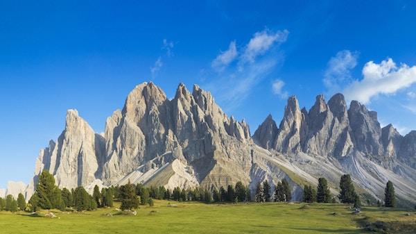 Fjell iDolomittene, alpene, nasjonalpark.